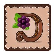 Letter d candies  chocolate Stock Illustration