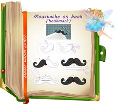 Moustache on book Stock Illustration