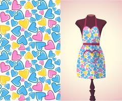 Kitchen apron on a dummy1 Stock Illustration