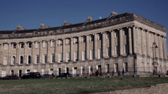Bath Royal Crescent Stock Footage