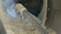Industrial kneading dough in the bakery Stock Footage