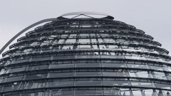 Berlin Reichstag Glass Dome in time lapse Stock Footage