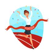 Business Victory Concept Stock Illustration