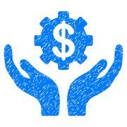 Maintenance Price Grainy Texture Icon Stock Illustration