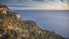 Seascape Coast Of The Black Sea.Crimea Stock Footage