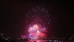Sydney Harbor Bridge Fireworks Stock Footage