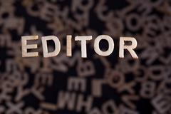 Editor word in wooden letters Stock Photos