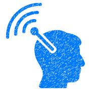 Radio Neural Interface Grainy Texture Icon Stock Illustration