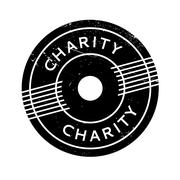 Charity rubber stamp Stock Illustration