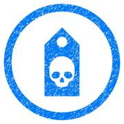 Death Coupon Rounded Icon Rubber Stamp Stock Illustration