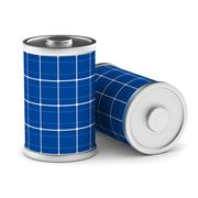 Solar battery on white background. Isolated 3d image Stock Illustration