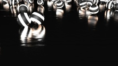 Abstract CGI motion graphics with glowing spheres Stock Footage