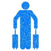 Passenger Baggage Grainy Texture Icon Stock Illustration