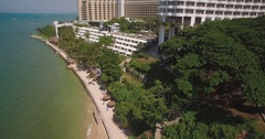 Drone Shot of Royal Cliff Beach and Resorts in Pattaya, Thailand Stock Footage