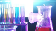 Laboratory Equipment. Laboratory Experiment. Chemical Reaction . Stock Footage