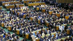 General view of the of 71st session of the United Nations General Assembly Stock Footage