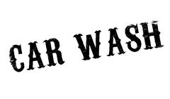 Car Wash rubber stamp Piirros