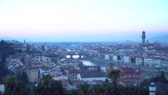 Video of Beautiful sunset over Cathedral of Santa Maria del Fiore (Duomo), .. Stock Footage