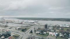 Klaipeda, Lithuania. Seaport and the Baltic Sea Stock Footage