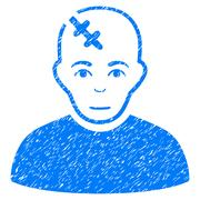 Head Hurt Grainy Texture Icon Stock Illustration