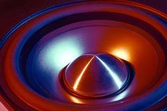 Colorful loudspeaker detail Stock Photos