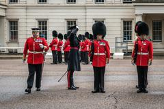Preparation for Changing the Guard ceremony in London Stock Photos