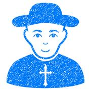 Christian Priest Grainy Texture Icon Stock Illustration