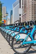 City bikes rent parking in NYC Stock Photos