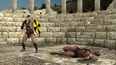 Coliseum, Swords, ancient, arena, attack, battle, coaches, defeat, die, fight, f Stock Footage