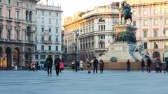 Duomo milano square timelapse Stock Footage