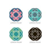 Mandalas or element for decoration, geometrical elements for decoration Stock Illustration
