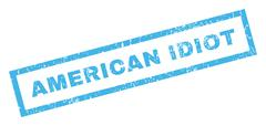 American Idiot Text Rubber Seal Stamp Watermark Stock Illustration