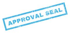Approval Seal Text Rubber Seal Stamp Watermark Stock Illustration