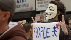 Anonymous For Peace Stock Footage