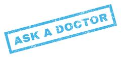 Ask a Doctor Text Rubber Seal Stamp Watermark Stock Illustration