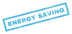 Energy Saving Text Rubber Seal Stamp Watermark Stock Illustration