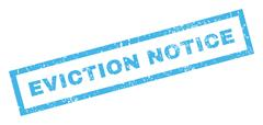 Eviction Notice Text Rubber Seal Stamp Watermark Stock Illustration