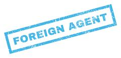 Foreign Agent Text Rubber Seal Stamp Watermark Stock Illustration