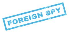 Foreign Spy Rubber Stamp Stock Illustration