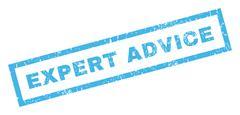 Expert Advice Rubber Stamp Stock Illustration