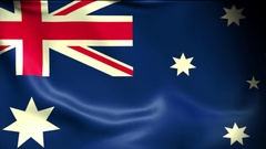 Australia Flag Background Seamless Looping Animation. 4K High Definition Video Stock Footage