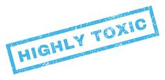 Highly Toxic Rubber Stamp Stock Illustration