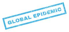 Global Epidemic Rubber Stamp Stock Illustration
