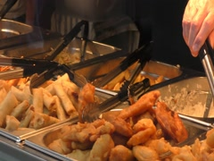 Fast food. Chinese cuisine. Stock Footage