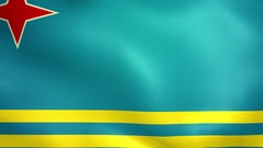 Aruba Flag. Background Seamless Looping Animation. 4K High Definition Video Stock Footage