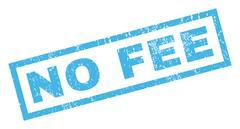 No Fee Rubber Stamp Stock Illustration