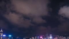 4k Time-lapse of Hong Kong Symphony of Lights at victoria harbour Stock Footage