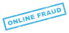 Online Fraud Rubber Stamp Stock Illustration