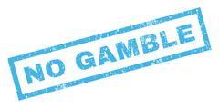 No Gamble Rubber Stamp Stock Illustration