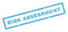 Risk Assessment Rubber Stamp Stock Illustration